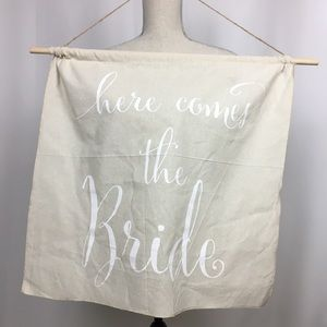 Other - Here comes the bride wall hanging banner